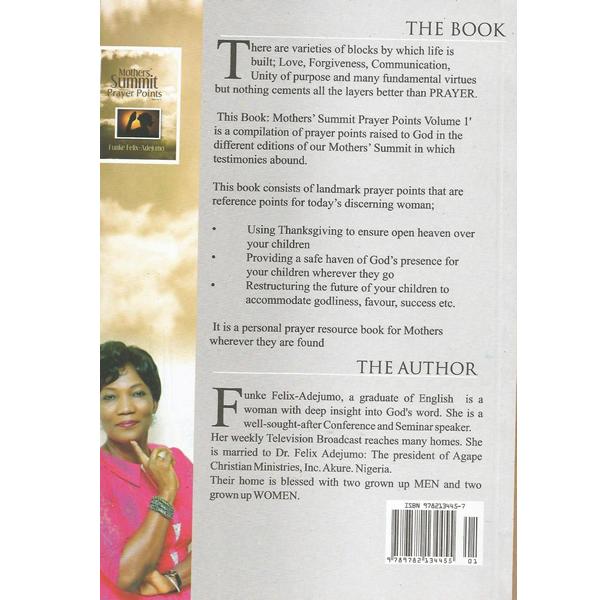 Mothers Summit Prayer Point Volume 1 (Back) by Funke Felix Adejumo